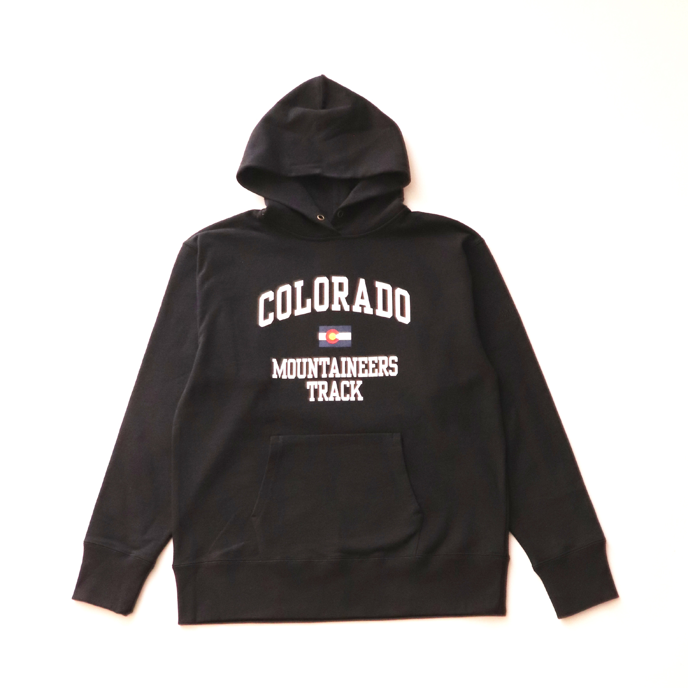 product: Mountaineers Hooded / color: BLACK 1