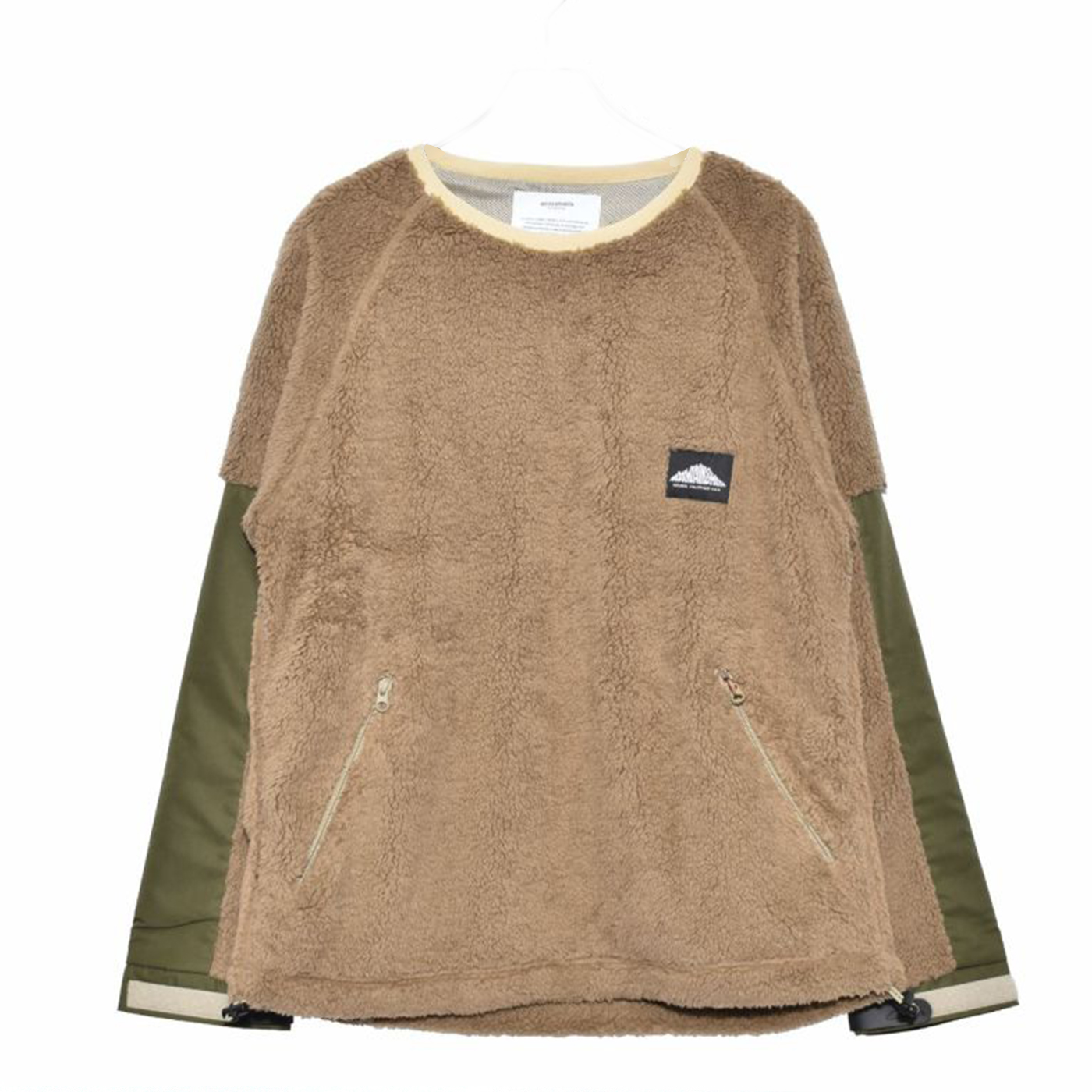 product: FLEECE PULL OVER / color: BROWN 1